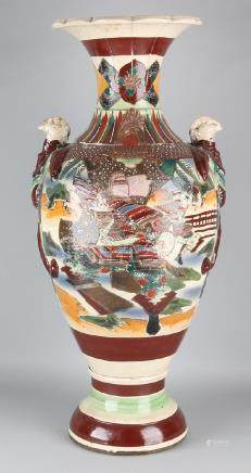 Very large 19th century Japanese Satsuma ceramic vase