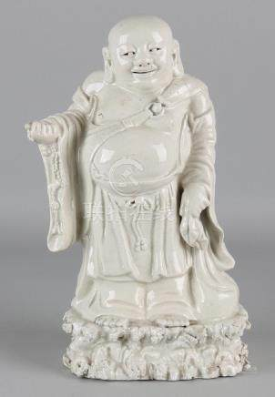 19th - 20th Century Chinese porcelain Hotei statue.