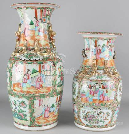 Two large 19th century Chinese Cantonese porcelain