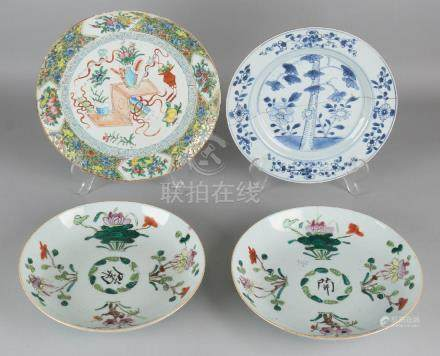Four times 18th - 19th century Chinese porcelain