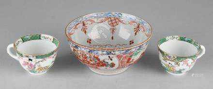 Three times antique Chinese porcelain. Consisting of:
