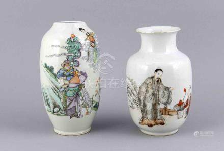 Two antique Chinese porcelain vases with Family Rose
