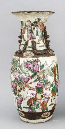Large 19th century Chinese Cantonese ornamental vase