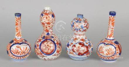 Four times 19th century Imari porcelain miniature