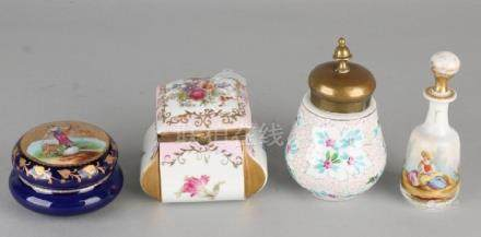 Four times old / antique porcelain. 19th - 20th