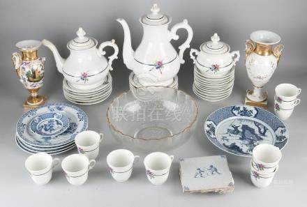 Great fate of various old / antique crockery. 19th -