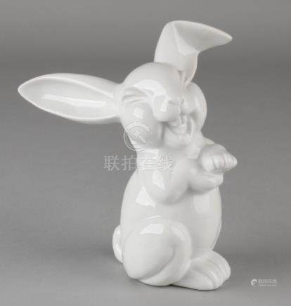 German Rosenthal porcelain smiling hare. Second half of