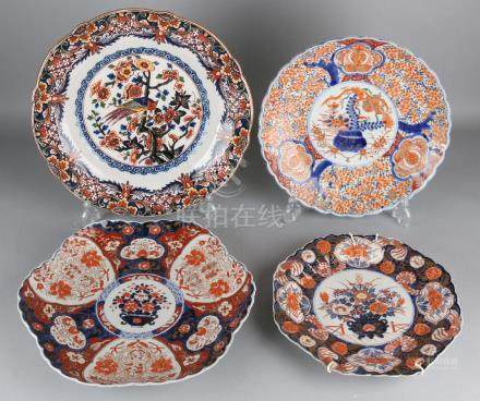 Four antique plates. Consisting of: Three times Japan,