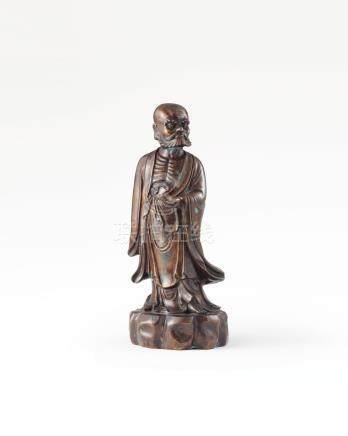 铜达摩立像