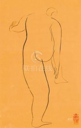 常玉-裸女素描