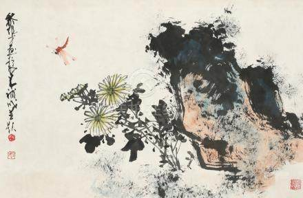 黎雄才、赵少昂-蜻蜓(合作画)