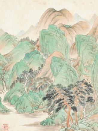 王鉴-青绿山水