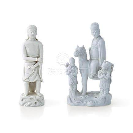 Two De Hua figural wares Qing dynasty, 18th century (2) 22 c