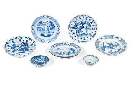 A selection of blue and white wares Wanli to Kangxi (8)