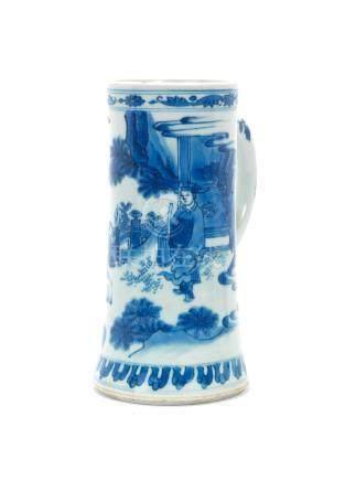 A blue and white tankard Chongzhen, circa 1640