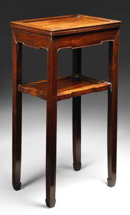 A small huanghuali rectangular side table 18th century
