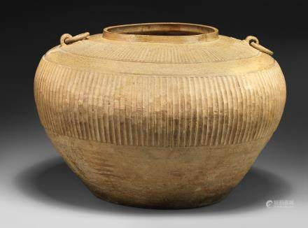 A large green-glazed pottery jar Warring States Period