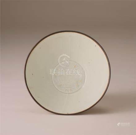 宋代 青白瓷双鱼纹碗