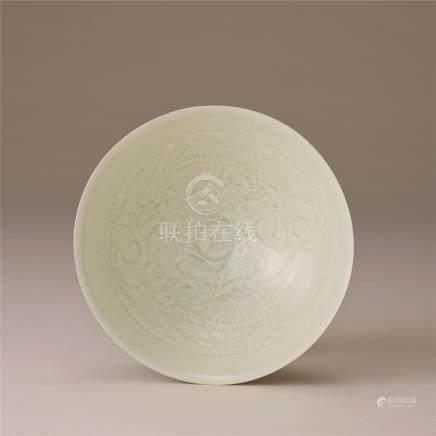 宋代 青白瓷刻花纹碗