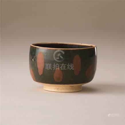 金代 黑釉锈花碗