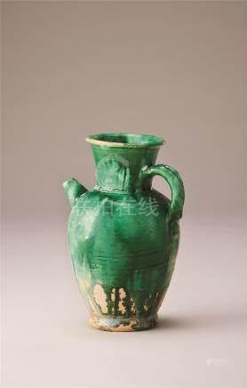 唐代 绿釉执壶