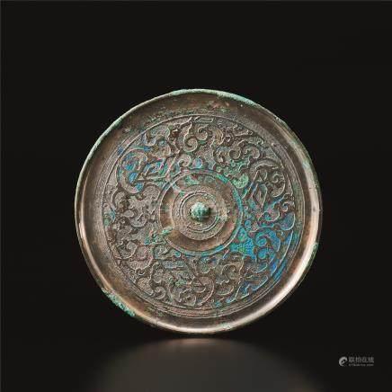 西汉 蟠螭纹镜