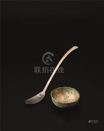 唐代 响铜匙及碗