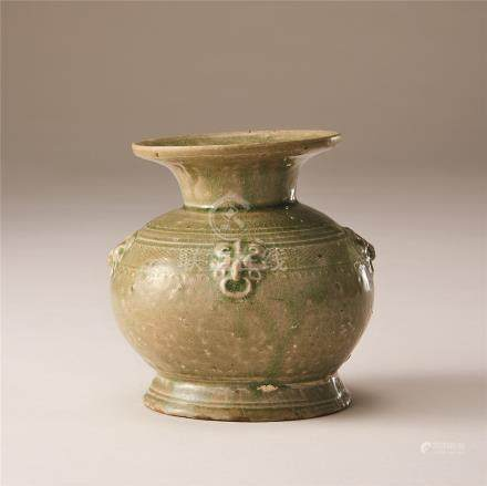 西晋 青瓷兽面耳壶