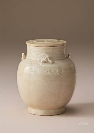 宋代 青白瓷盖罐