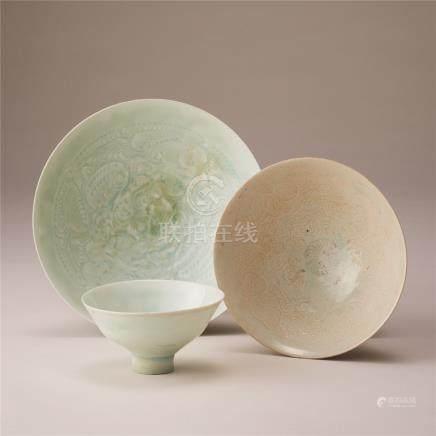 宋代 青白瓷碗 (三件)