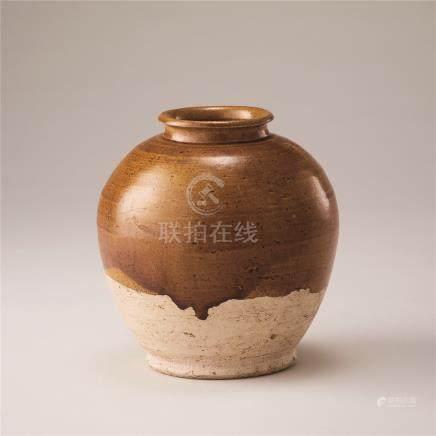 唐代 黄釉罐