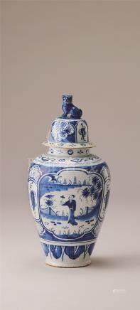 18世纪 荷兰戴尔夫特饰壶