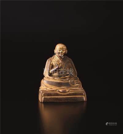 铜鎏金藏佛像