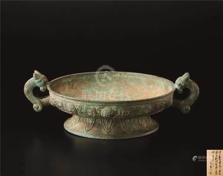 仿古铜式盘