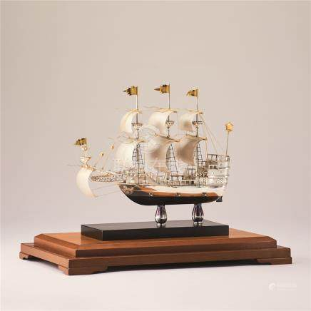 银制洋帆船