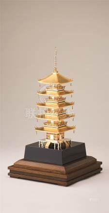 银制五重塔