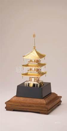 银制三重塔