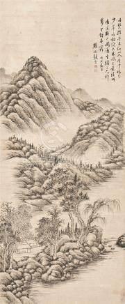 山水图 立轴 水墨纸本