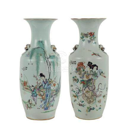 Pair of porcelain vases Japan, 19th century h. 57 cm