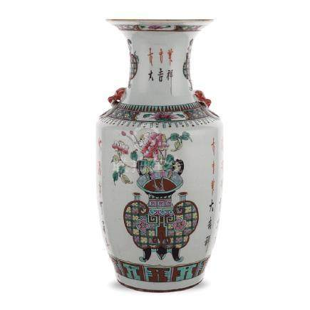 White porcelain vase China, 19th - 20th century