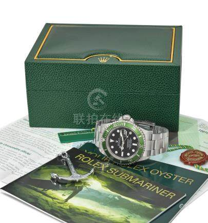 ROLEX. A RARE STAINLESS STEEL AUTOMATIC WRISTWATCH WITH SWEEP CENTRE SECONDS, DATE, BRACELET, ORIGINAL GUARANTEE AND BOX