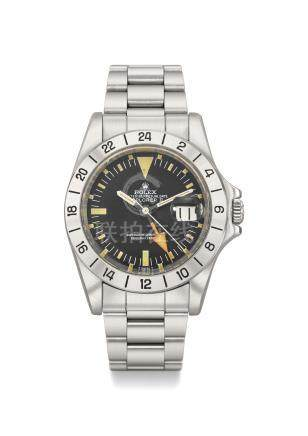 Rolex. A very fine stainless steel automatic wristwatch with sweep centre seconds, date, 24 hour hand and bracelet