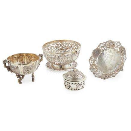 MISCELLANEOUS GROUP OF EXPORT SILVER LATE QING DYNASTY/REPUB