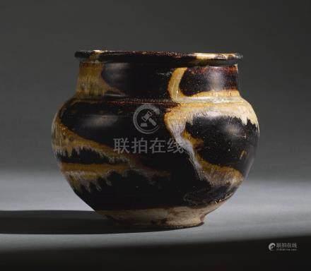 南宋   吉州窰黑釉鐵銹斑罐