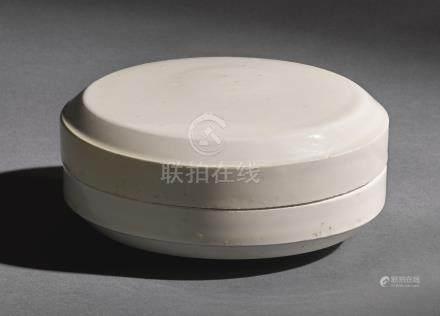 宋   定窰白釉圓蓋盒