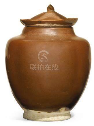 宋   吉州窰醬釉蓋罐