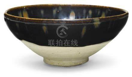 北宋/金   黑釉鷓鴣斑紋盌