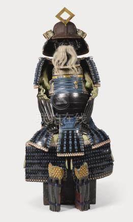 AN OKEGAWA-DO GUSOKU[ARMOUR] EDO PERIOD, 17TH - 18TH CENTURY SIGNED IN RED LACQUER IWAI YOSHIKAZU