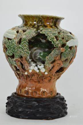 IMPORTANT 19TH C JAPANESE IMPERIAL VASE