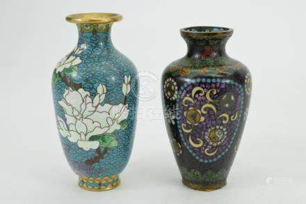 2 CHINESE CLOISONNÉ ALTER VASES
